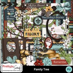 Family Tree Combo Blessed Family, Butterfly Images, Photo Corners, Paper Butterflies, Paint Shop, Photoshop Elements, Photo Book, Digital Scrapbooking, Design Elements
