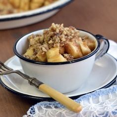 No-Bake Apple Crumble - This dessert is easier and faster to make than an apple pie or apple crisp, and it requires no baking.