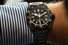 Tudor surprised us by releasing a blacked out PVD version of their famous diver - the Black Bay Dark.