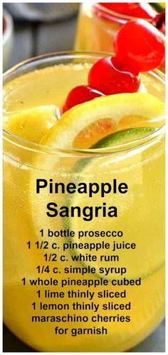 Pineapple Sangria ~