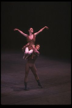 """New York City Ballet production of """"Other Dances"""" with Patricia McBride and Mikhail Baryshnikov, choreography by Jerome Robbins (New York)"""