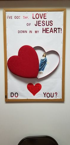 Love of Jesus bulletin board for church