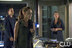 """The 100 --  """"Earth Skills"""" -- Sachin Sahel as Jackson, Lindsey Morgan as Raven, and Paige Turco as Abby"""