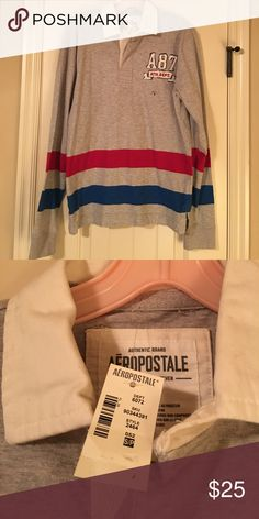 NWT Aeropostale Rugby Shirt Size small Aeropostale Rugby long-sleeved collared shirt Aeropostale Shirts Polos