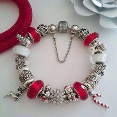 My #Pandora #christmas #bracelet #myunforgettablemoment #my_pandora_story #mypandora #pandorastyle #pandoralover #pandoralove_photo #pandoramonamour #pandora_magic @theofficialpandora #swarovski #swarovskistardustbracelet #pandorawestfarms