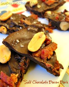 Salty dark Chocolate Bacon Bark recipe includes how to temper chocolate with Thermomix kitchen machine. How To Temper Chocolate, Salted Chocolate, Chocolate Bark, Great Recipes, Whole Food Recipes, Dinner Recipes, Brittle Recipes, Bark Recipe, Fodmap Recipes
