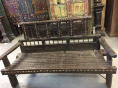 Indian Furniture, Iron Furniture, Rustic Furniture, Vintage Furniture, Antique Bench, Antique Sideboard, Sideboard Furniture, Rustic Sofa, Rustic Decor