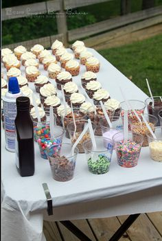 Cupcake Bar - Serving a large group of people couldn't be easier by doing it this way!
