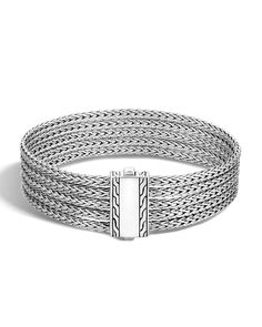 Classic Chain Five-Row Sterling Silver Bracelet.