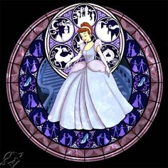 Cinderella stained glass art from Kingdom Hearts