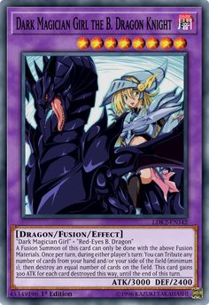 Dark Magician Girl the B. Dragon Knight by toailuong on DeviantArt Yugioh Dragon Cards, Yugioh Dragons, Yu Gi Oh, Custom Yugioh Cards, Yugioh Decks, Female Monster, Dragon Knight, Dragon Artwork, Pokemon Cards