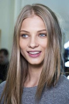 Taylor Swift and Cara Delevingne are making it a good time to be a dark blonde. Mousy no more, this ashy color is laid-back and low maintenance. Image: Pinterest via Beautylish