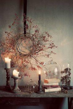 Candles, Wreath, Cloche