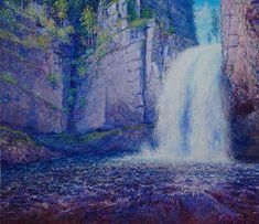 Oil on linen, 70x80 cm Monet, Impressionist, Niagara Falls, Oil, Nature, Artwork, Travel, Painting, Naturaleza