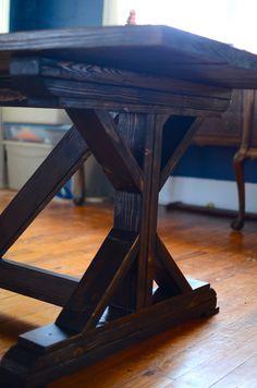 The Feminist Housewife: Build It. DIY farmhouse table