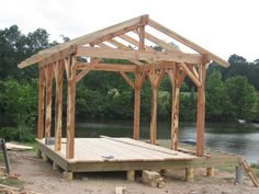 pergolas and timber frame structures wwwfinecraftinccom - Patio Pavilion Ideas