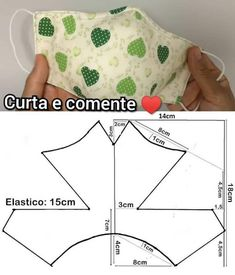 Sewing Hacks, Sewing Tutorials, Sewing Projects, Easy Face Masks, Diy Face Mask, Sewing Clothes, Diy Clothes, Costura Fashion, Mouth Mask Fashion