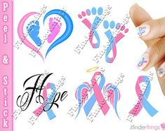 Carry a heartfelt message on your nails with these Pregnancy Infant Loss Awareness Ribbon Mix Nail Art Decal Stickers. Show your passion with these striking and meaningful designs. Miscarriage Tattoo, Miscarriage Remembrance, Miscarriage Awareness, Miscarriage Quotes, Remembrance Tattoos, Large Temporary Tattoos, Temporary Tattoo Sleeves, Sleeve Tattoos, Baby Tattoos
