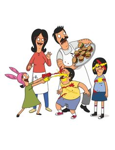 Bob's Burgers / The Belchers / Louise Belcher / Linda Belcher / Gene Belcher / Bob Belcher / Tina Belcher / Food Fight