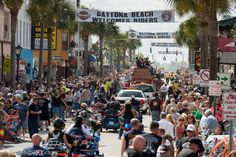 Bike Week Daytona Beach is where the riding season begins - riding, racing and raging parties. Watch this Daytona Bike Week recap and get ready for the next Harley party that's only 100 days away - Sturgis Motorcycle Rally. Sturgis Motorcycle Rally, Motorcycle Rallies, Daytona Beach Bike Week, Cool Motorcycles, Rage, Adventure Travel, Harley Davidson, Street View, Racing