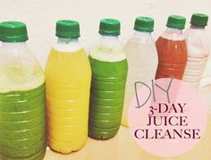 3-Day DIY Juice Cleanse via A Good Hue. Doing this as soon as I get back to school!