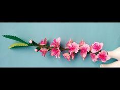 Paper flower - Peach Blossom - YouTube