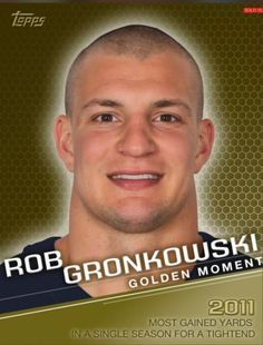 TOPPS-HUDDLE-GOLDEN-MOMENT-ROB-GRONKOWSKI-x2-7-pts-boost-PATRIOTS-ONLY-93-EXIST