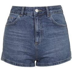 TopShop Moto Vintage Mom Shorts (340 SEK) ❤ liked on Polyvore featuring shorts, mid stone, high-waisted shorts, high rise shorts, highwaisted shorts, topshop and highwaist shorts