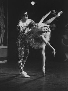 "New York City Ballet Company Stars Edward Villella and Patricia Mcbride Performing ""Harlequinade."" By Bill Eppridge"