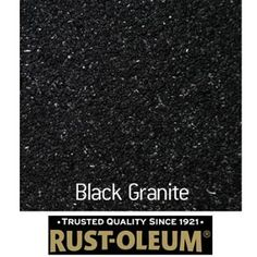 Rust-Oleum Stone Spray Paint - Black Granite - redo lamp using this, I ...