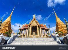 Wat Phra Kaew, Temple Of The Emerald Buddha, Bangkok, Thailand. Stock Photo…
