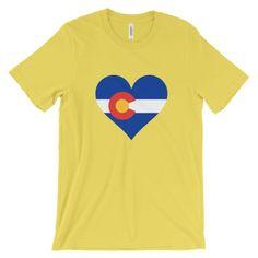 Love Colorado Heart State Flag T-Shirt