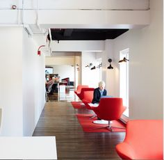 Bob lounge chairs located in a hallway for impromptu meetings or personal focus work.