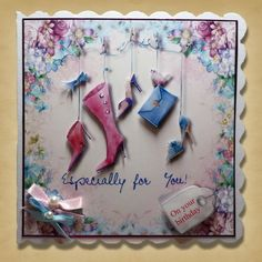 Card made using Serif and Victoria Nelsons Celebrations Digikit