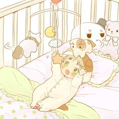 Image shared by Giesha Girl. Find images and videos about anime, baby and anime boy on We Heart It - the app to get lost in what you love.