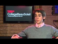 TEDx College Beau Soleil 2012 interview - Alexander Renaud - former student at Beau Soleil YouTube