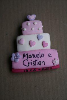 Pink Frilly: Calamite wedding cake