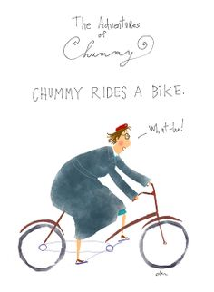 Chummy rides a bike♥♥♥ Call The Midwife!