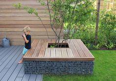 Gabion wall seat for planting Gardening For Beginners, Gardening Tips, Back Gardens, Outdoor Gardens, Gabion Wall, Backyard Shade, Shade Garden, Garden Seating, Garden Planning
