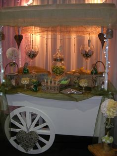 Candy Cart decorated rusticly by Pink Bon Bon