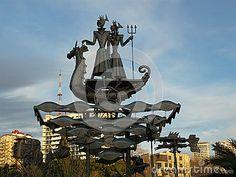 Modern art, sculpture made of metal, Sochi landmark