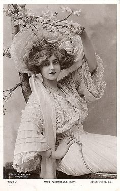 historyhair: 1907 - Miss Gabrielle Ray - Treasured Beauty