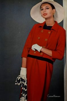 Couture Allure Vintage Fashion: Yves St. Laurent Suits from his First Collection Spring 1962