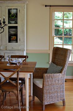 paint colors for dining room with chair rail | then it went to