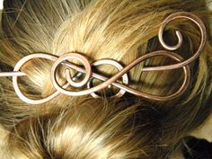 Barrette Hair Clip Metal Hair Clip Hair Sticks by ElizabellaDesign, $18.50