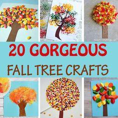 20 artesanías creativas del árbol de otoño