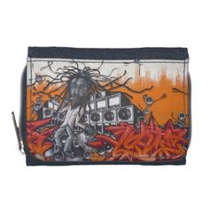 #custom #Jamaican Themed #gifts #photousa  #wallet #Smokymartini -  Graffiti music - Reggae style