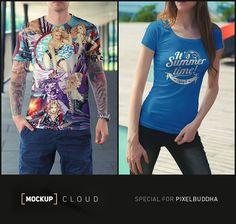 Free T-Shirt Mock-Up Set - download freebie by PixelBuddha