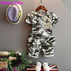 bd89b1e57ed0f2 Malayu Baby 2016 children fashion summer baby boys clothing sets 2pcs  camouflage sport suit clothes sets boys girls set 2 7Y-in Clothing Sets  from Mother ...
