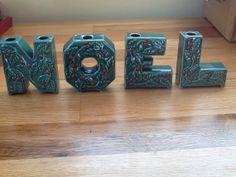 Mid Century NOEL Candle Holder